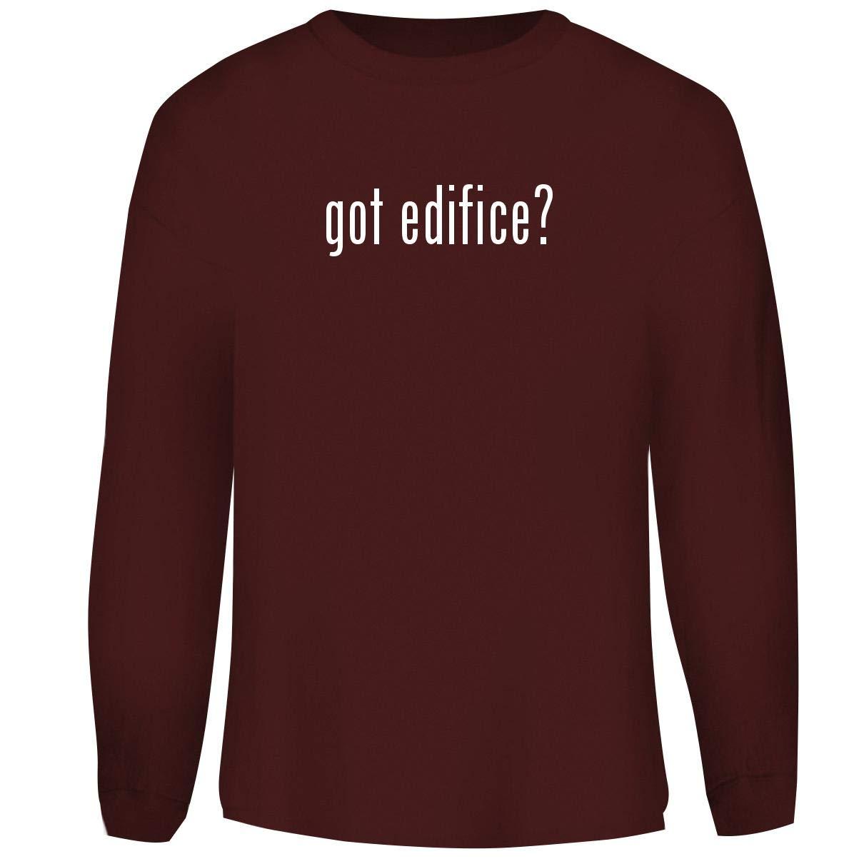 One Legging it Around got Edifice? - Men's Funny Soft Adult Crewneck Sweatshirt, Maroon, Medium