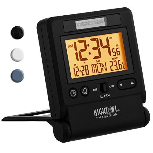 MARATHON CL030036BK Atomic Travel Alarm...