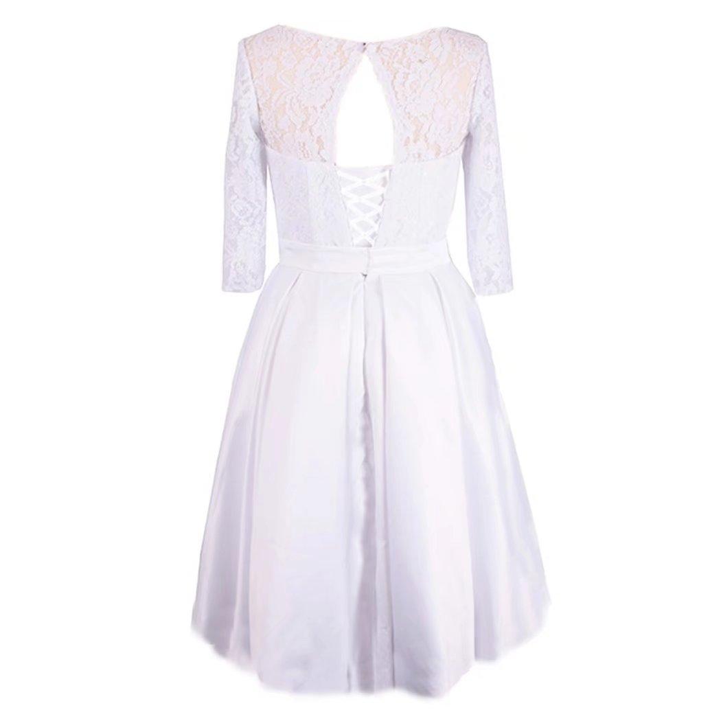 Sapphire Bridal Womens S Line Knee Length Lace Short Wedding Dress