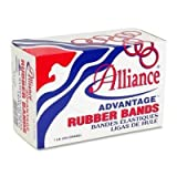 Alliance Rubber Products - Rubber Bands, Size 64, 1 lb., 3-1/2amp;quot;x1/4amp;quot;, Natural - Sold as 1 BX - Good tensile strength of Advantage Rubber Bands reduces breakage. Open-ring design allows up to 50 percent faster application than standard flat