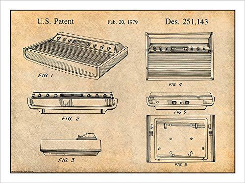 Console Parchment (Studio 21 Graphix 1979 Atari 2600 Video Game Console Patent Print Art Poster UNFRAMED Parchment 18