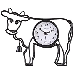 Maple's Cow Silhouette Table/Wall Clock