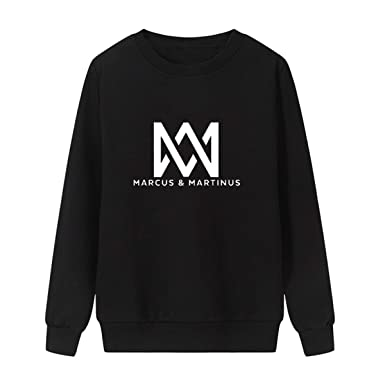 Amazon.com: WEEKEND SHOP Marcus and Martinus Sweatshirt Men Women Long Sleeve Pullover Jumper Hoodies: Clothing