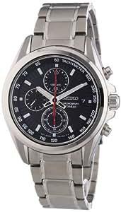 Seiko SNDC93P1 - Reloj cronógrafo de caballero de cuarzo con correa de titanio gris - sumergible a 100 metros