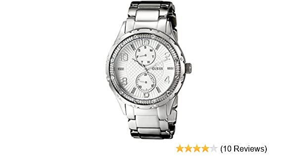 Amazon.com: GUESS Womens U0442L1 Mid-Size Silver-Tone Multi-Function Watch: Guess: Watches