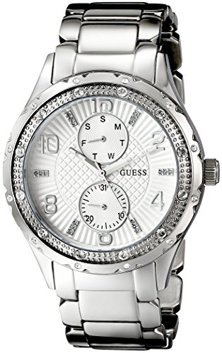 GUESS U0442L1 Mid Size Silver Tone Multi Function