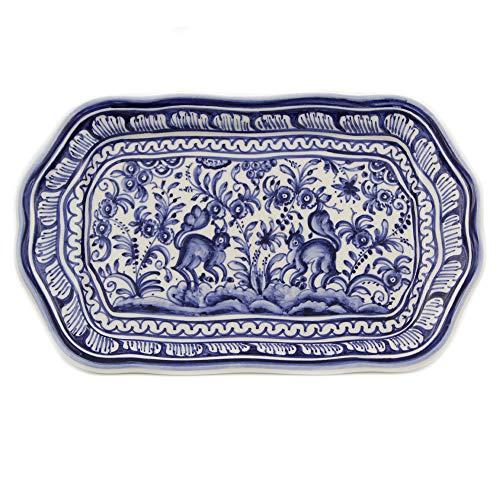 Madeira House Coimbra Ceramics Hand-Painted Decorative Tray XVII Century Replica #249-1