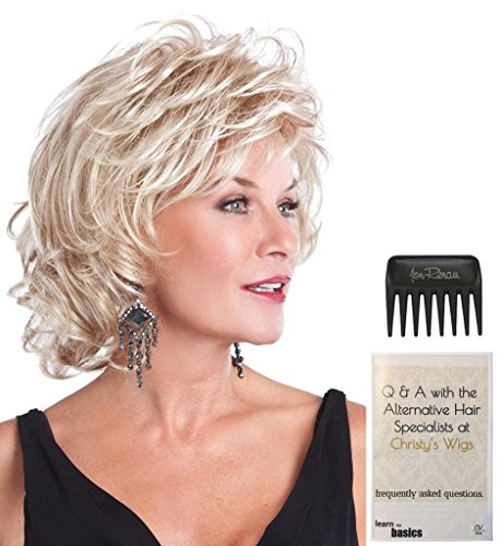Bundle - 3 items: Alluring Wig by Toni Brattin, 15 Page Christy's Wigs Q & A Booklet & Wide Tooth Comb - Color: MEDIUM BLOND by Toni Brattin & Christy's Wigs