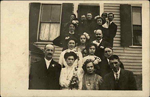 Wedding Party Fall River, Massachusetts Original Vintage Postcard
