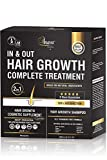 Anava Hair Growth Shampoo & Vitamins Complex - All Natural Treatment to Prevent Hair Loss - Hair Growth Products for Women & Men – Effective Shampoo 10 Oz & Supplement 60 Pills for Faster Hair Growth