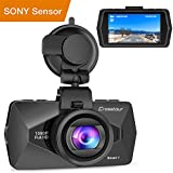 Crosstour Mini In Car Dash Cam HDR Car Camera 1080P FHD Camera Video Recorder for Cars 170°Wide Angle HDR 2.7 LCD Motion Detection Loop Recording G-sensor