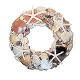 14'' Shell Wreath-Starfish & Seashells Coastal Beach Home Decor, Christmas Ornaments, Weddings & more