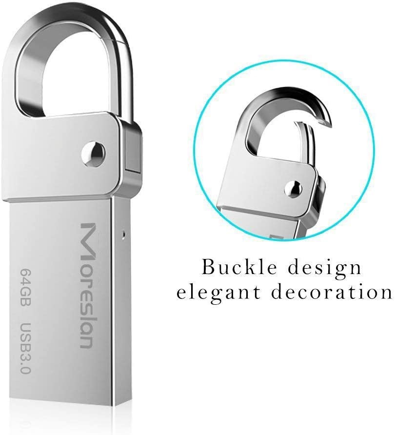 Android Speaker Moreslan 2 in 1 OTG Type C USB Flash Drive Memory Stick Metal USB C Pen Drive Waterproof with Keyring for Phone Mac IOS Compatible with Windows Car USB 3.0, USB C Tablet PC