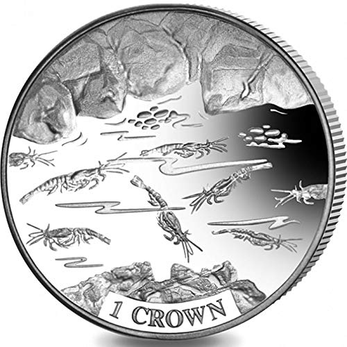 SHRIMP - 2018 Ascension Island 1 Crown Uncirculated Cupro Nickel Coin - Limited Mintage of Only 10,000 pieces