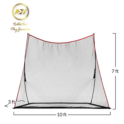 Rukket 10x7ft Haack Golf Net | Practice Driving Indoor and Outdoor | Golfing at Home Swing Training Aids | By SEC Coach Chris Haack by Rukket Sports (Image #2)