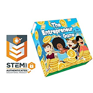 The Entrepreneur Game by EESpeaks- World's 1st and only STEM Accredited Educational Entrepreneur Board Game Teaching Investing Marketing Budgeting Negotiating BusinessLife Literacy and Social Skills