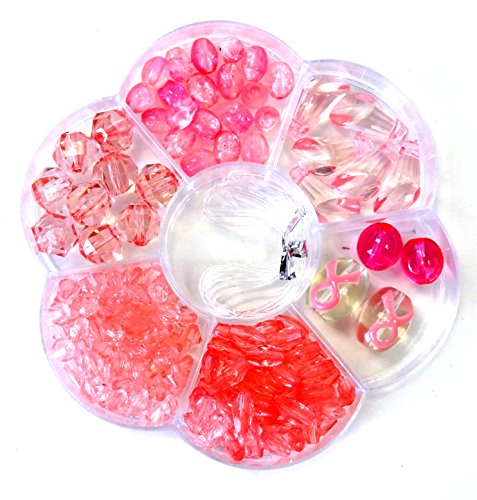Multi Pink Glass (Linpeng Bead Box with FREE spacers and charms)