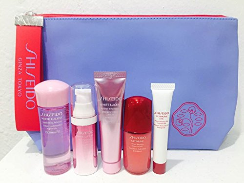 White Lucent Travel kit with Blue
