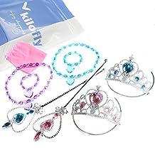 kilofly Princess Party Favor Value Pack, Tiara Wand Necklace Bracelet - 2 Sets