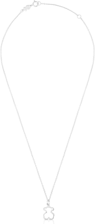 TOUS Galaxy - Collar y Colgante con Silueta de Oso, Plata de Primera Ley - Motivo: 1,2 cm, Largo: 45 cm: Amazon.es: Joyería