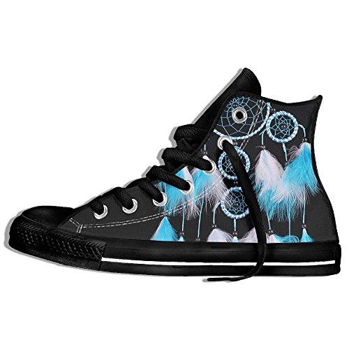 Classiche Sneakers Alte Scarpe Di Tela Antiscivolo Bianco Dreamcatcher Vento Casual Da Passeggio Per Uomo Donna Nero