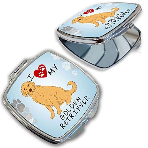 BleuReignTM I Love My Golden Retriever Dog Lover Compact Mirror