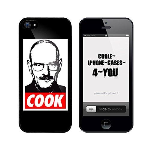 Iphone 5 / 5S Schutzhülle Cook Walter - schwarzer Rahmen