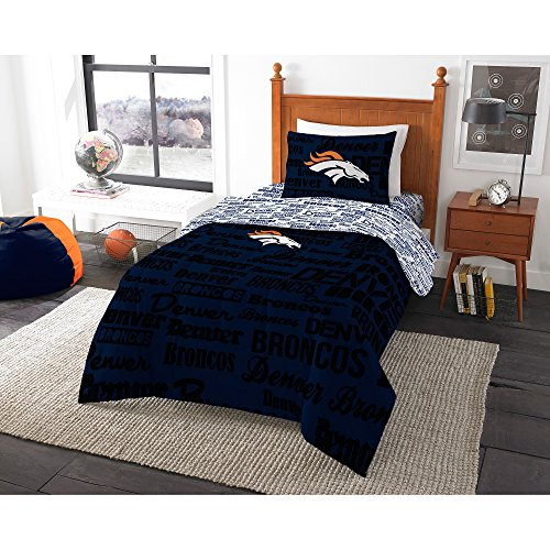 NFL Denver Broncos Bedding Set, Queen by Northwest