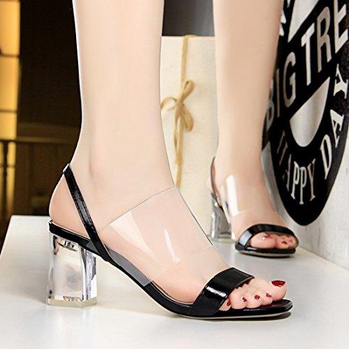 DS169 5 Miyoopark Femme pour Noir Sandales MiyooparkUK Hq5nwna6px