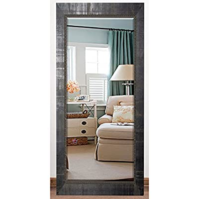 Rayne Mirrors US Made Tuscan Ebony Beveled Full Body Mirror Exterior: 29.5 X 64.5 - American Made/ Handcrafted Drywall anchors and screws provided Vertical and horizontal hanging hardware installed - mirrors-bedroom-decor, bedroom-decor, bedroom - 51oth5QQivL. SS400  -