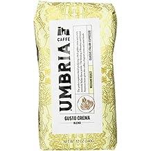 Caffe Umbria Gusto Crema Blend, Medium Roast 12 Ounce Bag