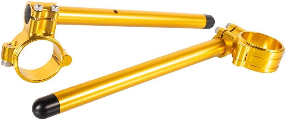 Argento Manubrio Moto Clip da 52mm Tubi in Alluminio CNC Rimovibili da 7//8 pollici 3 Colori per Thruxton 2017-2019 per Speed Triple 2007-2016 per GSXR1100 1991-1994