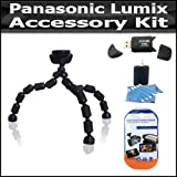 ButterflyPhoto Accessory Kit For The Panasonic Lumix DMC-LX5 Digital Camera Includes High Speed 2.0 USB SD Card Reader + Gripster Flexible Tripod + LCD Clear Screen Protectors + More