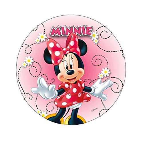 Générique Disque en azyme Minnie modèle aléatoire 20 cm