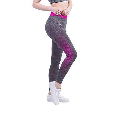 Leggings Deporte Mujer Cintura Alta Chandal Yoga Running Apretado ...