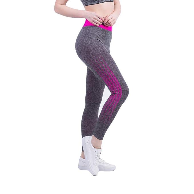 Leggings Deporte Mujer Cintura Alta Chandal Yoga Running ...