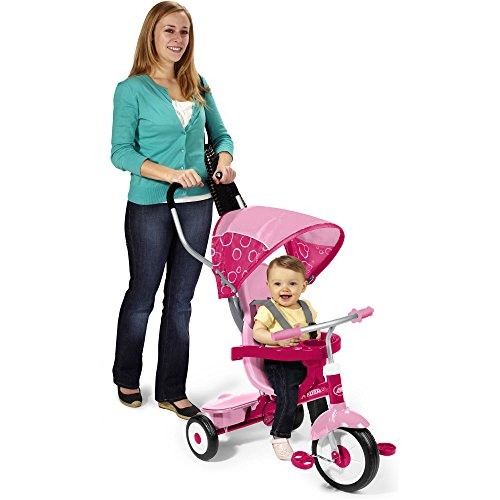 Radio Flyer 4-in-1 Trike, Red Pink