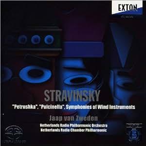 Stravinsky: Petrushka, Pulcinella;Sinfoniapara ints de viento