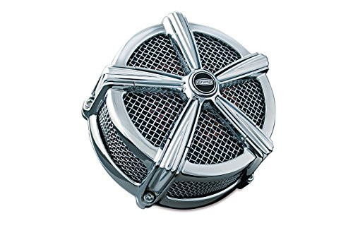 Kuryakyn Chrome Hi-Five Mach 2 Air Cleaner for Harley 2007-2016 XL883 ()