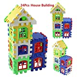Yealsha 24 PCS Kids Toddlers Building Blocks Educational and Activity Toy for Boys & Girls Above 3 Years Old