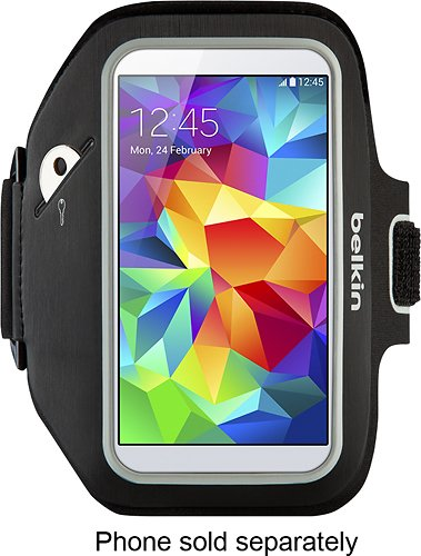 - Belkin - Sport-fit Plus Armband for Samsung Galaxy S4/s5 Cell Phones - Black