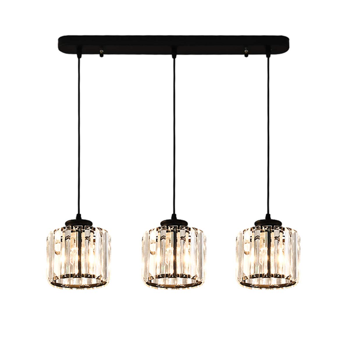 LHLYCLX 3 Light pendant lighting, Kitchen Island Light fixture Crystal Hanging Chandelier for Home Decoration (Bar) by LHLYCLX