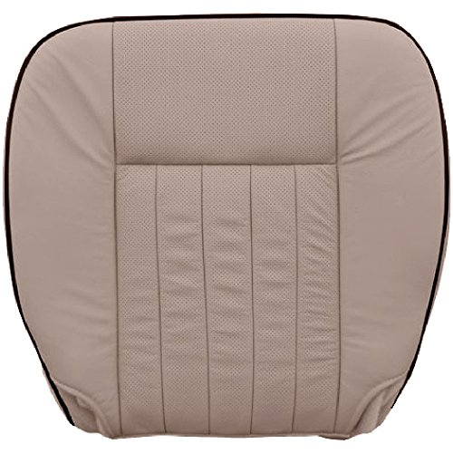 The Seat Shop Driver Bottom Replacement Perforated Leather Seat Cover - Camel Tan (Compatible with 2005-2006 Lincoln Navigator Limited with Air-Conditioned Seats)