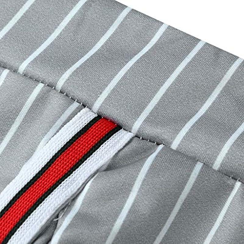 COMIOR męskie spodnie do biegania, spodnie do rekreacji, w paski, z tasiemką, długie, nowoczesne, długie: Odzież