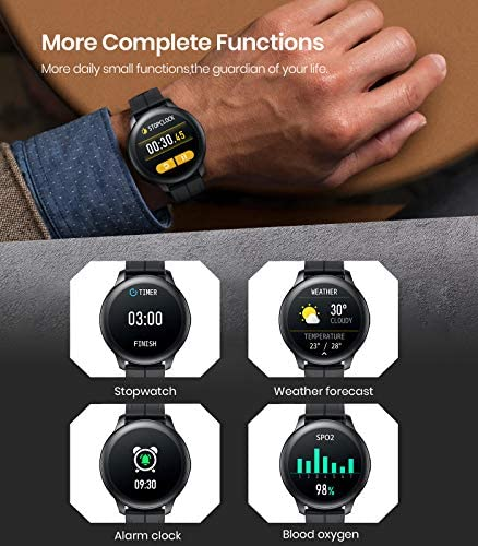 SANAG Smart Watch for Women and Men with Speaker and Microphone, Music Play, Fitness Tracker with HR Blood Pressure Monitor, IP67 Waterproof,Sleep Monitor Step Counter,Smart Watch for Android and iOS