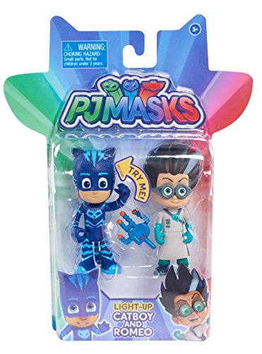Just Play PJ Masks 2-Pack Light Up Figures Catboy vs. Romeo Just Play - Import JPL24811