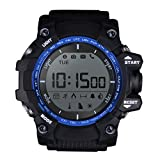 Mens Digital Sports Watch Multifunctional LED Wristwatch Sleep Monitor Pedometer Daily Activity Monitor IP68 Waterproof Bluetooth Smart Bracelet For Android iOS (Blue)