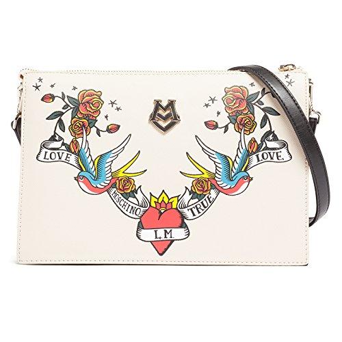Love Moschino , Sac pour femme à porter à l'épaule blanc cassé ivoire (ral 1013)
