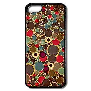 IPhone 5c Cases Colorful Round Design Hard Back Cover Shell Desgined By RRG2G