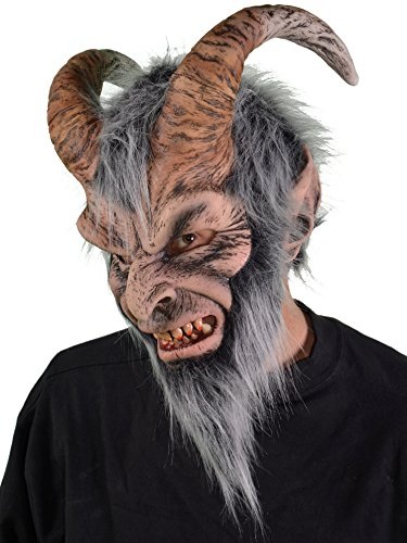 Zagone Krampus Mask, Horned Devil Demon Monster Creature]()